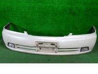 Бампер передний белый в сборе с ПТФ и указателями поворота (царапины) NISSAN LAUREL VIII С35 1997,1998,1999,2000,2001,2002