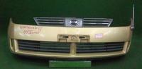 Бампер передний золото в сборе с решеткой радиатора (нет правой заглушки) NISSAN WINGROAD II Y11 1999,2000,2001,2002,2003,2004,2005