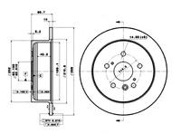 Диск тормозной задний TOYOTA HARRIER / LEXUS RX XU30 2003-2013