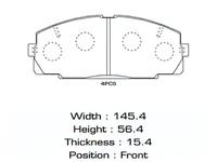 Колодки тормозные передние TOYOTA DYNA VI U100 / U200 1995-2002