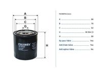 Фильтр масляный RENAULT MEGANE III KZ0 / BZ0 2008,2009,2010,2011,2012,2013,2014,2015,2016