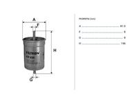 Фильтр топливный NISSAN SERENA I C23 1991,1992,1993,1994,1995,1996,1997,1998,1999,2000,2001,2002