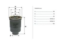 Фильтр топливный MAZDA 323 BA 1994,1995,1996,1997,1998,1999,2000