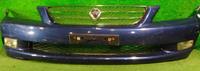 Бампер передний синий в сборе с решеткой радиатора, ПТФ, нижняя решетка TOYOTA ALTEZZA GITA XE10 1998-2005