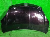 Капот бордовый в сборе с шумоизоляцией, накладкой (сколы) MAZDA VERISA