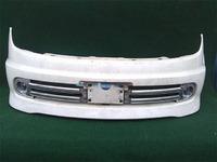 Бампер передний белый с ПТФ и решетками A-Tech NISSAN LAFESTA
