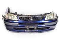 Ноускат синий в сборе бампер, суппорт, радиаторы, фары, поворотники, решетка, диффузоры, усилитель 2WD АКПП TOYOTA COROLLA SPACIO E110 1997-2001