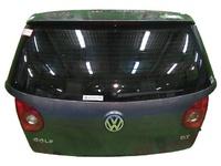 Крышка багажника черная в сборе со стеклом, с обшивкой, с замком, с моторчиком дворника, с фонарями VOLKSWAGEN GOLF V 1K1 / 1K5 2003,2004,2005,2006,2007,2008,2009