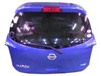 Крышка багажника синяя в сборе со стеклом, с замком, с петлями, со стеклоочистителем, с молдингом NISSAN MICRA / MARCH MICRA IV / MARCH IV K13 2010,2011,2012,2013,2014,2015,2016