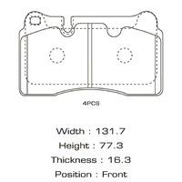 Колодки тормозные передние VOLKSWAGEN TOUAREG II 7P5 2010,2011,2012,2013,2014