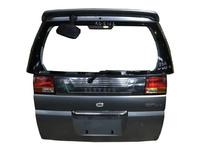 Крышка багажника серая в сборе со стеклом, фонари, спойлер, зеркало NISSAN ELGRAND I E50 1997,1998,1999,2000,2001,2002