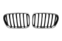 Решетка радиатора левая+правая комплект BMW X3 F25 2010,2011,2012,2013,2014,2015,2016,2017