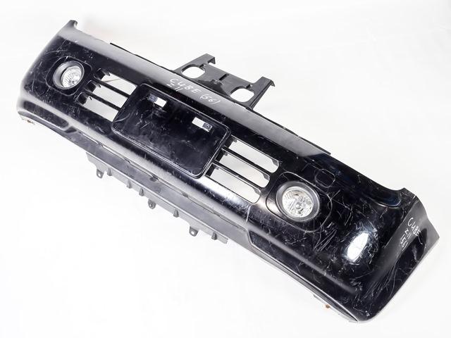 Бампер передний черный в сборе с ПТФ (потерт) (Б/У) для NISSAN CUBE II Z11 2002-2008