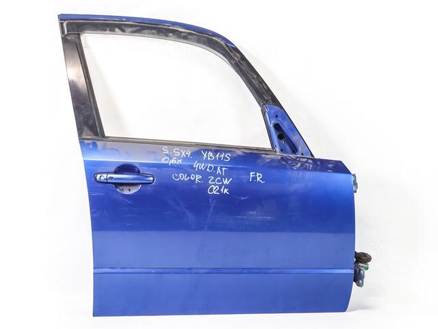 Дверь передняя правая синяя в сборе (Б/У) для SUZUKI SX4 CLASSIC EY / GY 2006-2014
