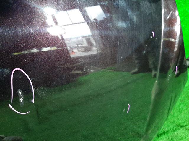 Капот бордовый в сборе с шумоизоляцией, накладкой (сколы) (Б/У) для MAZDA VERISA