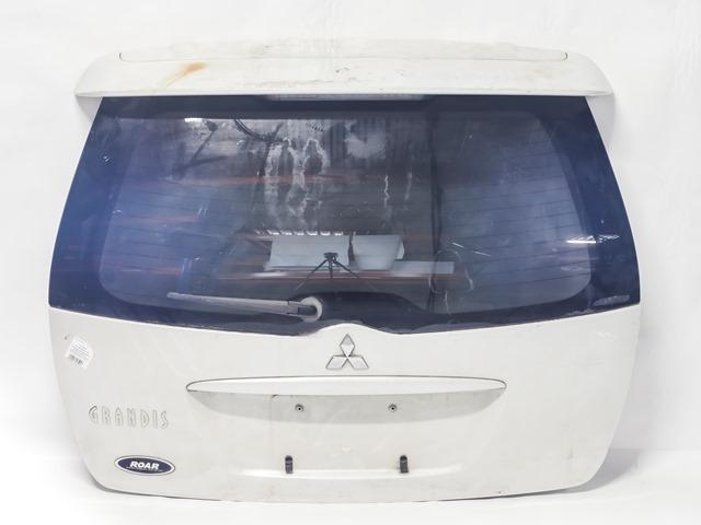 Крышка багажника белая в сборе со стеклом, стеклоочиститель, спойлер (Б/У) для MITSUBISHI GRANDIS