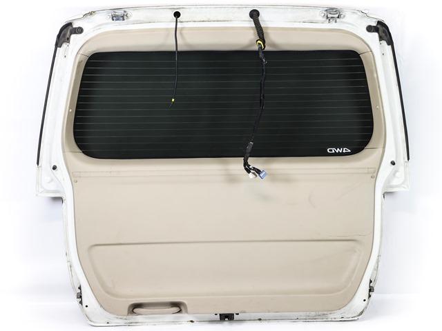 Крышка багажника белая в сборе со стеклом, стеклоочиститель, спойлер, фонари (Б/У) для TOYOTA ALPHARD H10 2002-2008