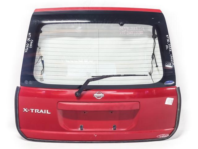 Крышка багажника красная в сборе со стеклом, стеклоочиститель, накладка (Б/У) для NISSAN X-TRAIL T30 2001-2007