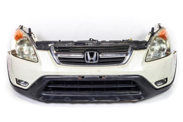 Ноускат белый в сборе бампер, суппорт, радиаторы, фары ксенон, ПТФ, решетка, диффузор, усилитель, парктроники 4WD АКПП (Б/У) для HONDA CR-V II RD 2001-2006