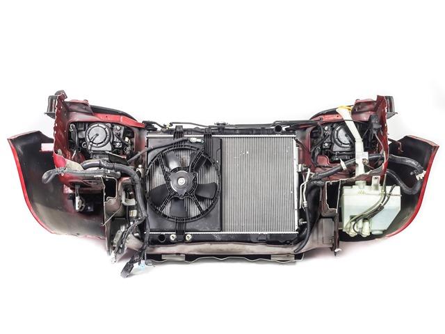 Ноускат красный в сборе бампер, суппорт, радиаторы, фары ксенон, ПТФ, решетка, диффузор, усилитель 4WD АКПП (Б/У) для NISSAN X-TRAIL T30 2001-2007