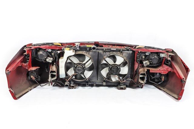 Ноускат красный в сборе бампер, суппорт, радиаторы, фары ксенон, ПТФ, решетки, диффузоры, усилитель, бачок АКПП (Б/У) для SUBARU IMPREZA G12 2007-2012