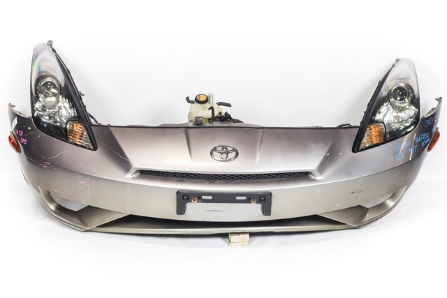 Ноускат серый в сборе бампер, суппорт, радиаторы, фары ксенон, поворотники, решетка, диффузор, усилитель, бачок АКПП (Б/У) для TOYOTA CELICA T230 1999-2006