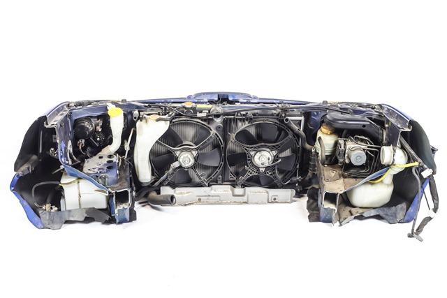 Ноускат синий в сборе бампер, суппорт, радиаторы, фары ксенон, ПТФ, решетки, диффузоры, усилитель, бачки 4WD АКПП (Б/У) для SUBARU IMPREZA G11 2000-2007