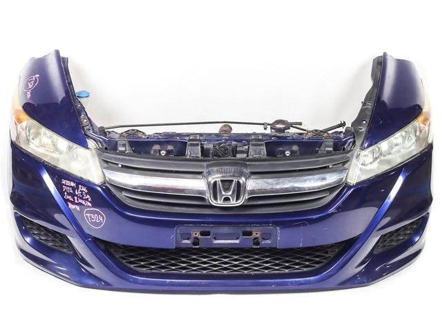 Ноускат синий в сборе бампер, суппорт, радиаторы, фары ксенон, решетки, заглушки, диффузоры, усилитель, бачки 2WD АКПП (Б/У) для HONDA STREAM II RN6-RN9 2006-2014