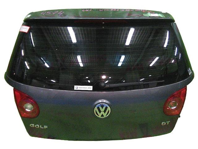 Крышка багажника черная в сборе со стеклом, с обшивкой, с замком, с моторчиком дворника, с фонарями (Б/У) для VOLKSWAGEN GOLF V 1K1 / 1K5 2003-2009