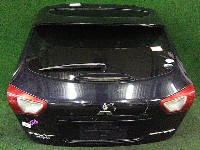 Крышка багажника черная в сборе со стеклом, со спойлером, с камерой (Б/У) для MITSUBISHI LANCER X
