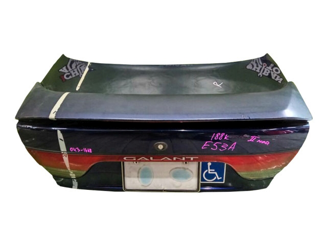 Крышка багажника синяя в сборе со спойлером, с фонарями (Б/У) для MITSUBISHI GALANT ЕВРОПА E5 1993-1997 / LEGNUM RHD