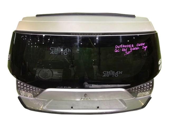 Крышка багажника серая в сборе со стеклом, с замком, с петлями, с амортизаторами, с камерой, со стеклоочистителем (Б/У) для MITSUBISHI OUTLANDER / AIRTREK OUTLANDER XL