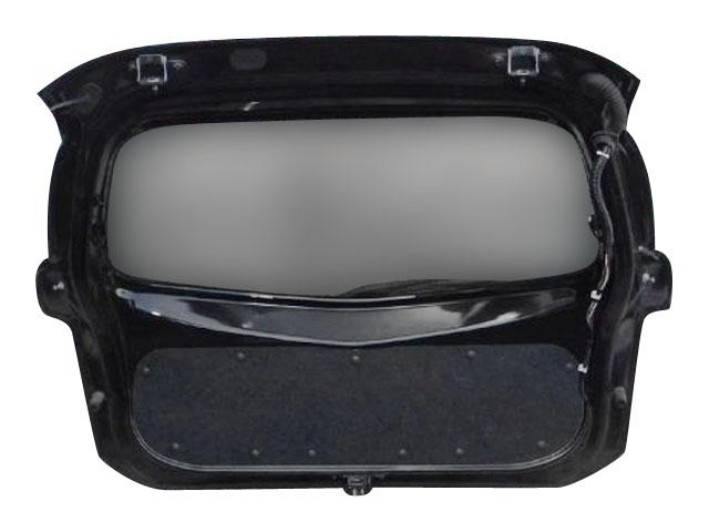 Крышка багажника черная в сборе со стеклом, с замком (Б/У) для NISSAN MICRA / MARCH MICRA IV / MARCH IV K13 2010-2013