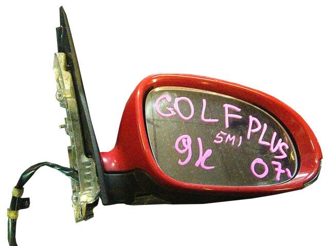 Зеркало заднего вида (боковое) правое электро, 13 контактов, с повторителем поворота (Б/У) для VOLKSWAGEN GOLF VI 5K1 / AJ5 2009-2013