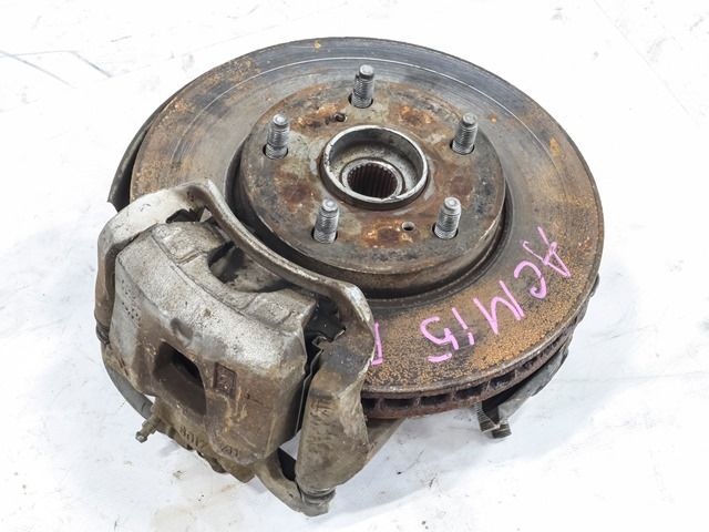 Кулак поворотный левый в сборе со ступицей, диск, суппорт, 2WD  4321244031_BU