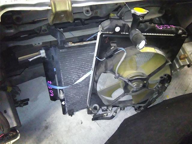 Ноускат серый в сборе бампер, радиаторы, суппорт, фары-ксенон, усилитель, решетки, диффузор (Б/У) для MITSUBISHI EK SPORT / EK WAGON H81W 2002-2006