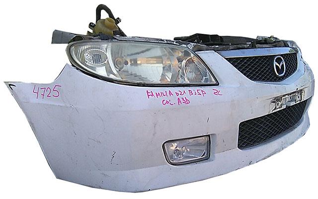 Ноускат белый бампер, суппорт, радиаторы, фары ксенон, решетки, диффузор, усилитель, парктроники, бачок АКПП (Б/У) для MAZDA FAMILIA BJ 1998-2004