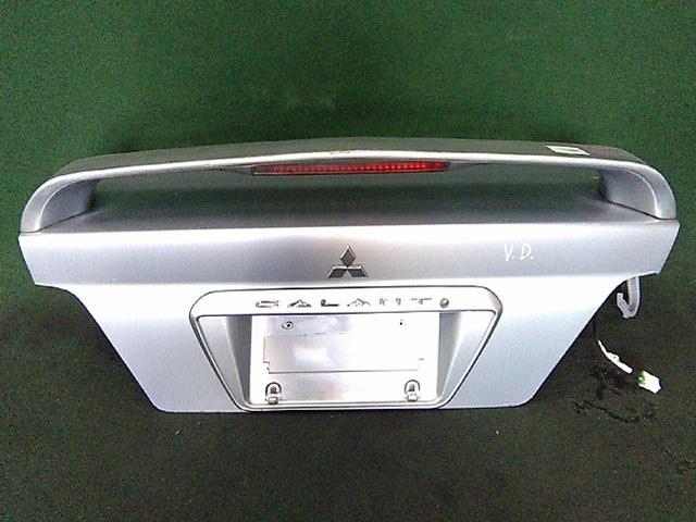Крышка багажника серая в сборе со спойлером, с замком (Б/У) для MITSUBISHI GALANT