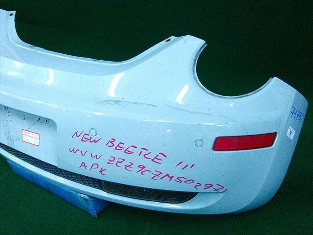Бампер задний белый с катафотами, парктроником и фонарями (Б/У) для VOLKSWAGEN BEETLE A5 2011-2019