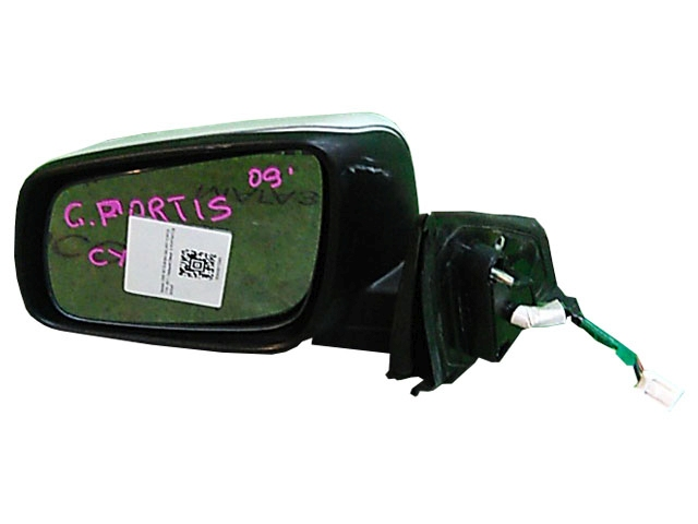 Зеркало заднего вида (боковое) левое электро, 5 контактов (Б/У) для MITSUBISHI LANCER X