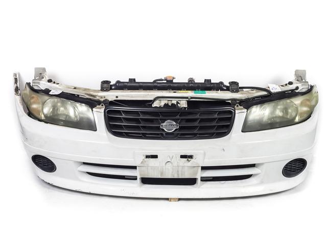 Ноускат белый в сборе бампер, суппорт, радиаторы, фары, заглушки, решетка радиатора, диффузор, усилитель, бачок 2WD АКПП (Б/У) для NISSAN EXPERT