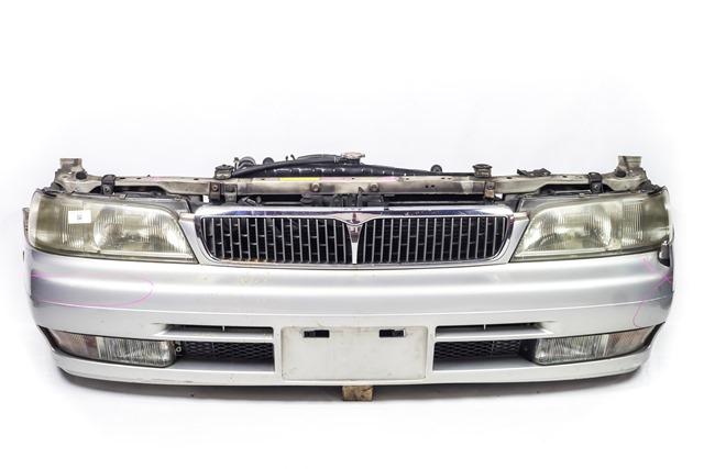 Ноускат серебро в сборе бампер, суппорт, радиаторы, фары, ПТФ, решетка радиатора, диффузор, усилитель, бачок 2WD АКПП (Б/У) для NISSAN LAUREL VII C34 1993-1997