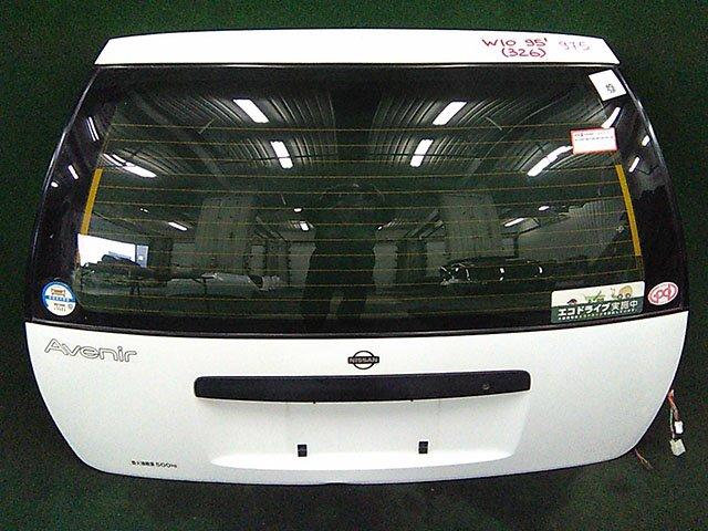 Крышка багажника белая в сборе со стеклом, с замком, с петлями (Б/У) для NISSAN AVENIR I W10 1990-1998