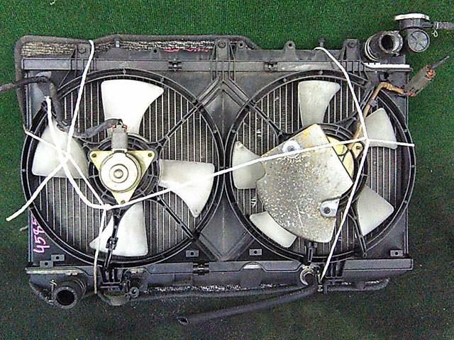Радиатор охлаждения в сборе с диффузором и моторчиками, АКПП (Б/У) для NISSAN AVENIR I W10 1990-1998